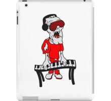 dj party musik klavier keyboard klimpern brille funky cool kopfhörer club band konzert spielen zombie horror halloween  iPad Case/Skin