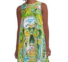 Crazy Skull#2 A-Line Dress