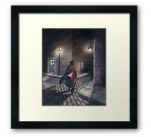 Murder by Gas Lamp Framed Print