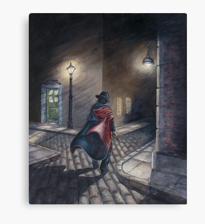Murder by Gas Lamp Canvas Print