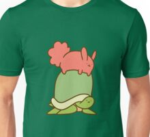 Pink Bunny and Turtle Unisex T-Shirt