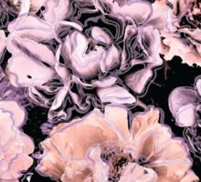 Peach, Lilac, and Black Floral Pattern Sticker