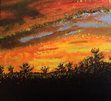 Sunset Painting by Brent Fennell