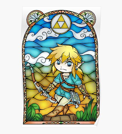 Breath of the Wild Stained Glass Poster