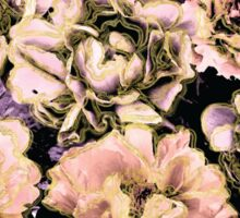 Peach, Lilac, Gold, and Black Floral Pattern Sticker