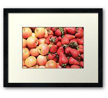 Fresh Apples and Strawberries Framed Print
