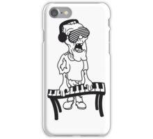 dj party musik klavier keyboard klimpern brille funky cool kopfhörer club band konzert spielen zombie horror halloween  iPhone Case/Skin