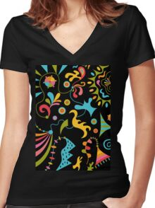 Upbeat Women's Fitted V-Neck T-Shirt