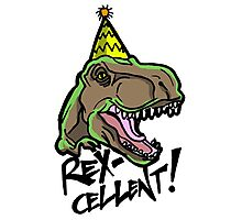 Rex-Cellent Dinosaur Theme Party for Kids and Adults Tyrannosaurus Photographic Print
