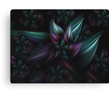 Purple and Blue Abstract Flower Canvas Print