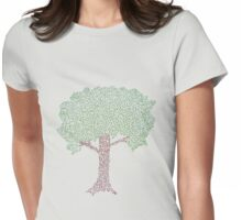 Connected Tree Womens Fitted T-Shirt