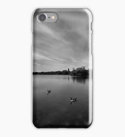 Thatcham Lakes in Black and White. iPhone Case/Skin