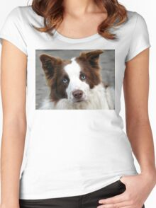 Blue Eyed Collie - NZ Women's Fitted Scoop T-Shirt