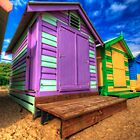 Brighton Beach Huts by mellosphoto