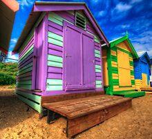 Brighton Beach Huts by mellosphoto