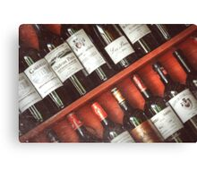 wine collection Canvas Print