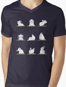 Yoga Shirt - Rabbit Yoga Shirt - Funny Rabbit Shirts Mens V-Neck T-Shirt