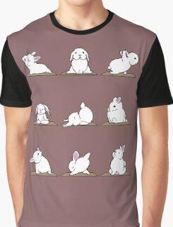 Yoga Shirt - Rabbit Yoga Shirt - Funny Rabbit Shirts Graphic T-Shirt