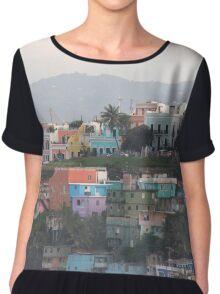 Puerto Rico  - Capital of San Juan island, US Virgin Islands   Chiffon Top