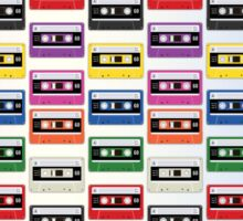 Cassettes In a Row Sticker