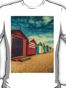 Brighton Beach Huts retro look T-Shirt