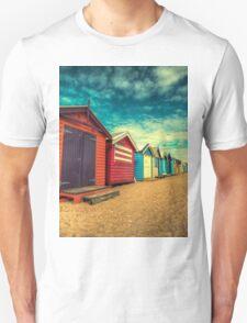 Brighton Beach Huts retro look Unisex T-Shirt