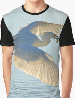 Egretta Thula - Snowy Egret With Fish In It's Beak | Hampton Bays, New York Graphic T-Shirt