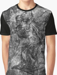 When The Stars Are Right - The Heart and Soul Nebulae in Cassiopeia (black & white version) Graphic T-Shirt