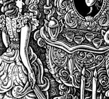 Wealthy Woman Looking in Mirror Sticker