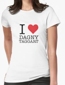 I Heart Dagny Taggart Womens Fitted T-Shirt
