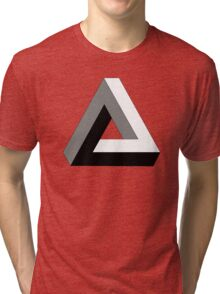 "Penrose Triangle ""Impossible Triangle"" Tri-blend T-Shirt"