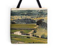 vintage vineyard landscape Tote Bag