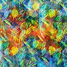 Colorful Grunge Leafs Collage  by artonwear