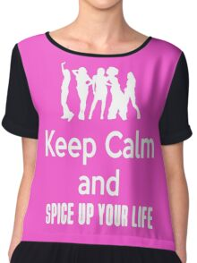 Keep Calm and Spice Up Your Life Chiffon Top