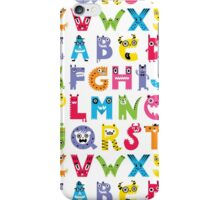 Alphabet Monsters poster iPhone Case/Skin