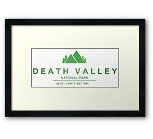 Death Valley National Park, California Framed Print
