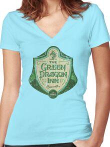 The Green Dragon Inn Women's Fitted V-Neck T-Shirt