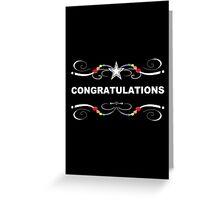 rainbow congratulations Greeting Card