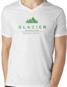 Glacier National Park, Montana Mens V-Neck T-Shirt