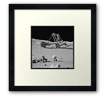 Moon Mining Framed Print