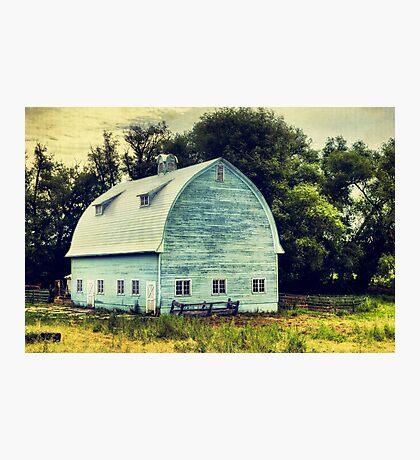 Aqua Barn Photographic Print