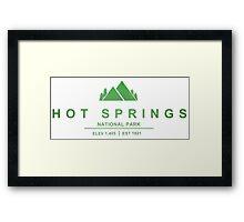 Hot Springs National Park, Arkansas Framed Print
