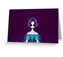 Ice Alien (frontal) Greeting Card