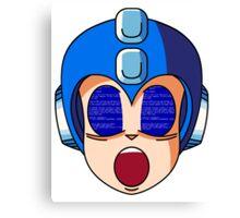 Mega Man Blue Screen Canvas Print