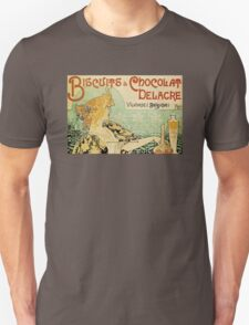 'Biscuits and Chocolat Delacre' by Privat Livemont (Reproduction) Unisex T-Shirt