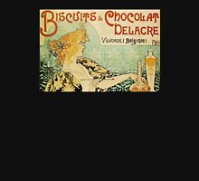 'Biscuits and Chocolat Delacre' by Privat Livemont (Reproduction) Womens Fitted T-Shirt