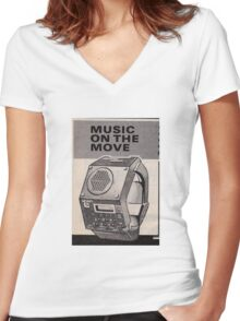 Music Watch Women's Fitted V-Neck T-Shirt