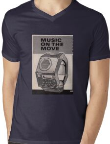 Music Watch Mens V-Neck T-Shirt