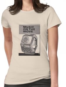 Music Watch Womens Fitted T-Shirt