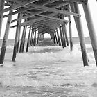The Pier in Black and White by Denise N Young